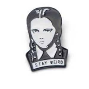 Stay Weird Wednesday Addams Enamel Pin